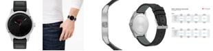 HUGO Men's #Dare Black Leather Strap Watch 42mm