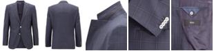 Hugo Boss BOSS Men's Regular/Classic-Fit Checked Virgin Wool Jacket