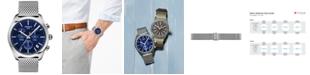 Tissot Men's Swiss Chronograph PR 100 Stainless Steel Mesh Bracelet Watch 41mm