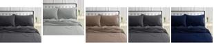 Tribeca Living 170-GSM Ultra-Soft Cotton Flannel Solid Extra Deep Pocket King Sheet Set