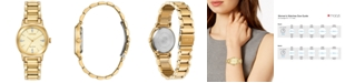 Citizen Eco-Drive Women's Axiom Gold-Tone Stainless Steel Bracelet Watch 28mm