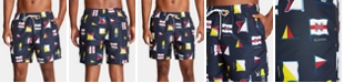 "Nautica Nautica Men's Blue Sail Quick-Dry Printed 8"" Swim Trunks, Created for Macy's"