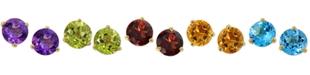 Macy's Amethyst (2-1/4 ct. t.w.) Stud Earrings in 14k Gold