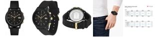 Lacoste Men's Chronograph 12.12 Black Rubber Strap Watch 42mm