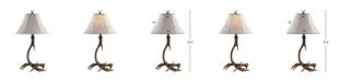 JONATHAN Y Antler Rustic Resin LED Table Lamp