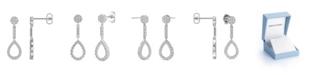 Charles & Colvard Moissanite Drop Earrings (1/2 ct. t.w Diamond Equivalent) in 14k white gold