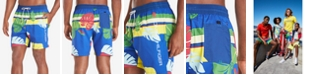 "Tommy Hilfiger Men's McCallister TH Flex Stretch Tropical-Print 6-1/2"" Swim Trunks"