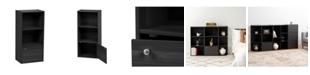 IRIS USA 3-Tier Wood Storage Shelf with Door