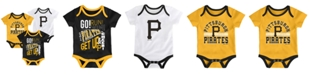 Outerstuff Baby Pittsburgh Pirates Newest Rookie 3 Piece Bodysuit Set