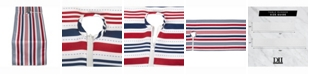 """Design Imports Patriotic Stripe Outdoor Table Runner with Zipper 14"""" X 72"""""""