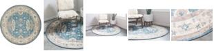 Bridgeport Home Bellmere Bel5 Light Blue 6' x 6' Round Area Rug