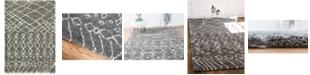 Bridgeport Home Fazil Shag Faz2 Gray 4' x 6' Area Rug
