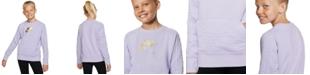 Nike Big Girls Air Fleece Sweatshirt