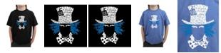 LA Pop Art Big Boy's Word Art T-Shirt - The Mad Hatter