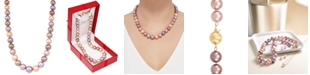 """Honora Multicolor Cultured Ming Pearl (9-13mm) Graduated 18"""" Collar Necklace"""