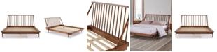 Walker Edison Modern Wood Queen Spindle Bed