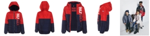 Tommy Hilfiger Big Boys Jack Hooded Colorblocked Jacket