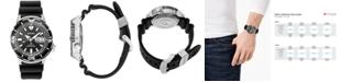 Seiko Men's Automatic Prospex Diver Black Silicone Strap Watch 42.4mm