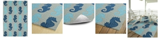 "Kaleen Sea Isle SEA03-17 Blue 5' x 7'6"" Area Rug"