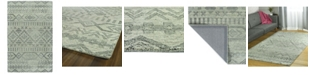 "Kaleen Palladian PDN04-77 Silver 5' x 7'9"" Area Rug"