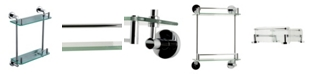 ALFI brand Polished Chrome Wall Mounted Double Glass Shower Shelf Bathroom Accessory