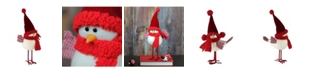 "Northlight 14"" Standing White Bird with Red Scarf and Hat Christmas Tabletop Decoration"