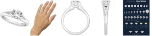 Macy's Certified Diamond Solitaire Engagement Ring (1 ct. t.w.) in 14k White Gold