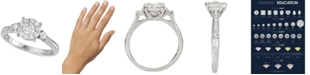 Macy's Diamond Halo Engagement Ring (3/4 ct. t.w.) in 14k White Gold