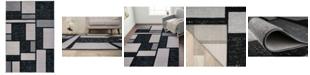 "Main Street Rugs Home Alba Alb308 Gray 7'10"" x 10'2"" Area Rug"