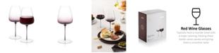 JoyJolt Black Swan Red Wine Glasses Set of 2