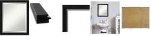 "Amanti Art Eva Silver-tone Framed Bathroom Vanity Wall Mirror, 19.12"" x 23.12"""