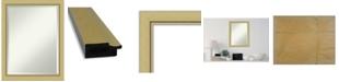 "Amanti Art Landon Gold-tone Framed Bathroom Vanity Wall Mirror, 21.38"" x 27.38"""