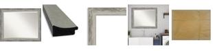 "Amanti Art Waveline Silver-tone Framed Bathroom Vanity Wall Mirror, 32.38"" x 26.38"""
