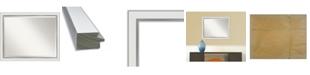 "Amanti Art Eva Silver-tone Framed Bathroom Vanity Wall Mirror, 31.12"" x 25.12"""