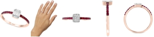 EFFY Collection Certified Ruby (1/5 ct. t.w.) & Diamond (1/5 ct. t.w.) Ring in 14k Rose Gold
