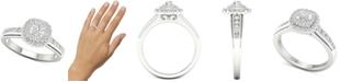 Macy's Diamond Halo Ring (1/2 ct. t.w.) in Sterling Silver
