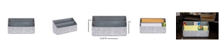 DesignStyles Shabby Chic By 2 Compartment Metal Organizer