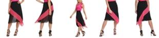 DKNY Colorblocked Asymmetrical Skirt