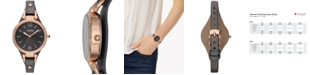Fossil Women's Georgia Ash Gray Leather Strap Watch 32mm ES3077