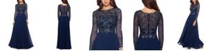 XSCAPE Embellished Chiffon Gown
