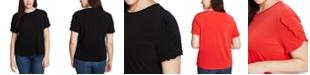 CeCe Plus Size Ruffled-Sleeve Top