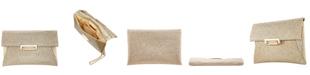 Nina Janette Glitter Envelope Clutch