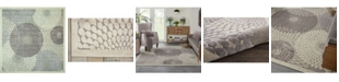 """Long Street Looms Chimeras CHI04 Gray 6'7"""" x 6'7"""" Square Area Rug"""
