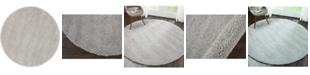 "Long Street Looms Cali Shag CAL01 Silver 6'7"" Round Area Rug"