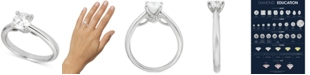 Macy's Round Solitaire Diamond Engagement Ring (1 ct. t.w.) in Platinum