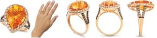 Le Vian Cinnamon Citrine (6-3/8 ct. t.w.) & Diamond (1 ct. t.w.) Ring in 14k Rose Gold