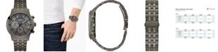 GUESS Men's Gunmetal Stainless Steel Bracelet Watch 45mm