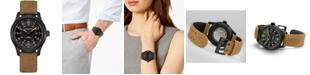 Hamilton Men's Swiss Automatic Khaki Field Brown Leather Strap Watch 42mm