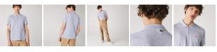 Lacoste Men's Regular Fit Short Sleeve Petit Pique Polo Shirt with Oversized Crocodile Patch