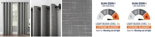 "Sun Zero Kline Burlap Weave 52"" x 63"" Thermal Blackout Curtain Panel"